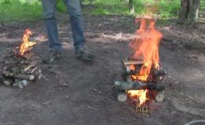 روش برپا کردن آتش