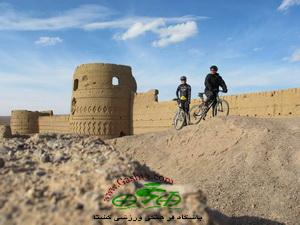 historical castel in desert iran