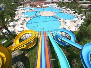 Aqua park waterplanet slides